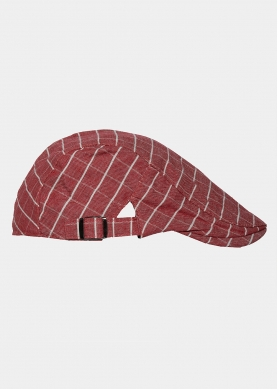 red checkered cap
