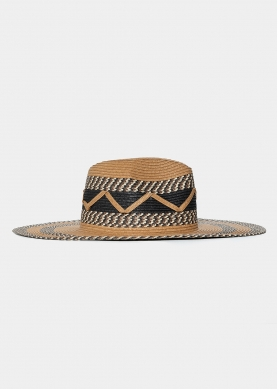 three color design straw hat