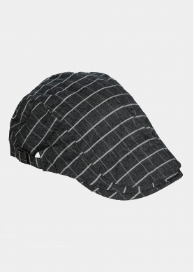 black checkered cap